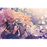 木製屏風 四曲 H265xW390 【誘い桜】