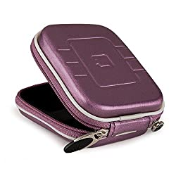 VanGoddy VG EVA Compact Travel Camera Case w/ Carbineer for Sony Cyber-shot DSC-RX100 III / DSC-W800 / DSC-WX350 / DSC-W830 / DSC-W810 Digital Cameras (Purple)