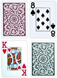 Copag Poker Size Jumbo Index 1546 Playing Cards (Green Burgundy Setup)