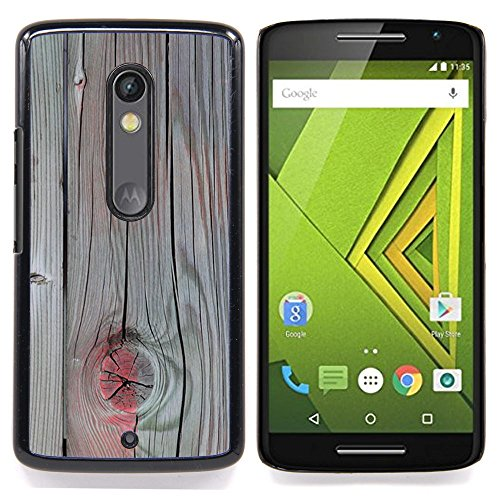 Accent Grey Wood Paint Cracked Custodia protettiva Progettato rigido in plastica King Case For Motorola Verizon DROID MAXX 2 / Moto X Play