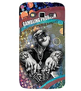 PrintVisa Quotes & Messages Gambling 3D Hard Polycarbonate Designer Back Case Cover for Samsung Galaxy Grand 2