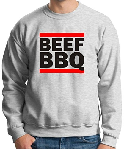 Beef Bbq Funny Barbeque Gift Crewneck Sweatshirt Large Ash