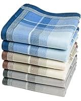 """Mouchoirs en tissu homme """"Jules"""" - 6 unités de 40cm x 40cm"""