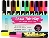 LIQUID CHALK Ink Markers - 10 PIECE VALUE PACK! *** LIFETIME GUARANTEE! *** 22-Page Usage Ideas e-Book FREE! *** 6mm Chisel Tip Pens, Easily Erasable - Perfect For Creating Vibrantly Colorful Message Boards, Fantastic As Childrens Drawing Chalks For Chalkboards & Activity Tables! These Artists Markers Are Brilliant For Creating Impactful Business And Store Signs, Themed Classroom Displays & Decoration Of Automotive Windows! Great As China Markers, Fabulous For Scrapbooking And Excellent For Creating Wine Glass Tags And For Writing On Chalk Labels!
