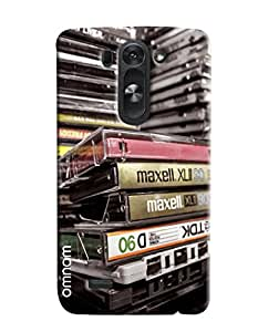 Omnam Collection Of Cassettes Printed Designer Back Cover Case For LG G3 Beat