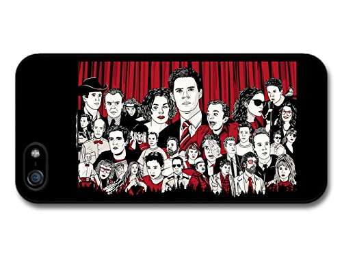 Stickerbomb Twin Peaks TV Series Illustration Collage with All Characters Sticker Bomb custodia per iPhone 5 5S