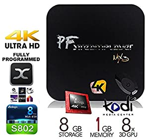 [FREE touch-pad keyboard!] PigflyTech® MX3 MXIII Quad Core Andriod TV BOX Pre-LOADED KODI 14.2 (XBMC 13.2) Streaming Media Player