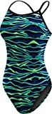 TYR Women's Voltage Diamondfit Swimsuit, Blue/Green, Size 34