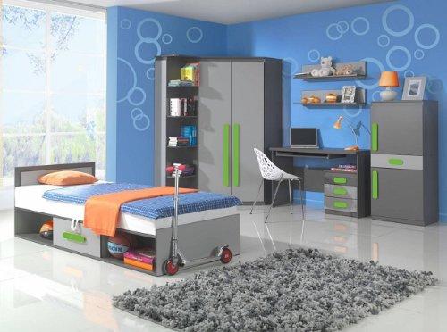 Jugendzimmer Play 02/ Grün (5-tlg.) Kinderzimmer komplett Kindermöbel Children room online bestellen
