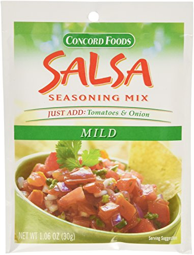 Concord Foods Mild Salsa Mix, 1.06-Ounce Pouches (VALUE Pack of 18 Pounces) (Concord Salsa compare prices)
