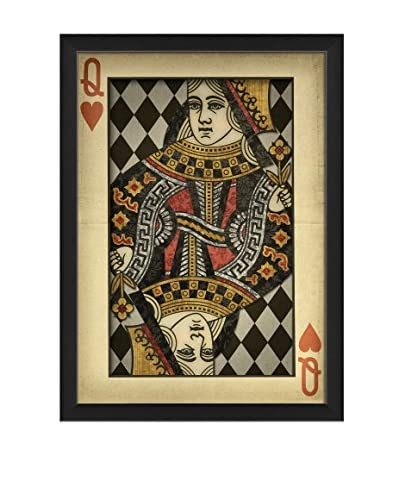 The Artwork Factory Queen Of Hearts On Diamond Background Print