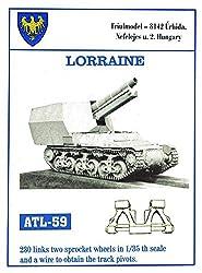 Friulmodel Atl59 1:35 Metal Track Link Set W/Drive Sprockets For Lorraine.