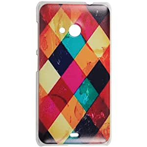 Casotec Clear Sides Print Design Hard Shell Back Case Cover for Microsoft Lumia 535