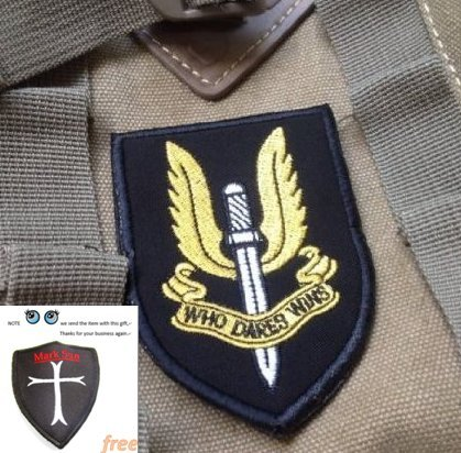 Special Air Service SAS Patch Who Dares Win EMBROIDERED Hook & Loop Velcro Patch (Tad Special Service compare prices)