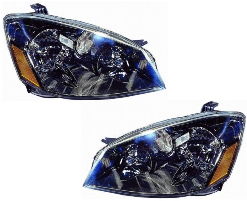 2005-2006 Nissan Altima Headlights /w Amber (Clear) (2006 Nissan Altima Headlights compare prices)
