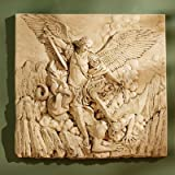 Design Toscano NG33581 St. Michael the Archangel Sculptural Wall Frieze in Stone