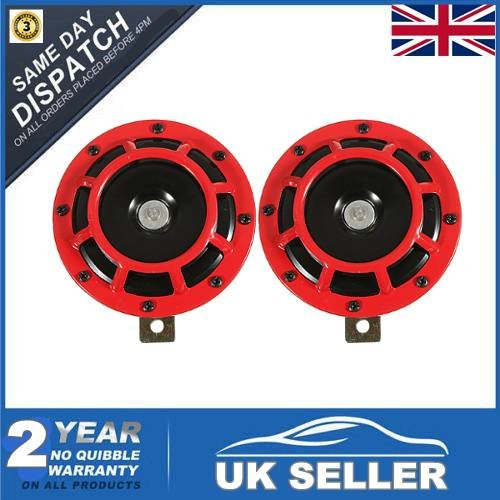 audew-pair-139db-red-black-compact-horn-super-tone-loud-blast-for-subaru-impreza-93-11-red