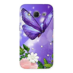 Delighted Voilate Butterfly Back Case Cover for Galaxy Core Prime