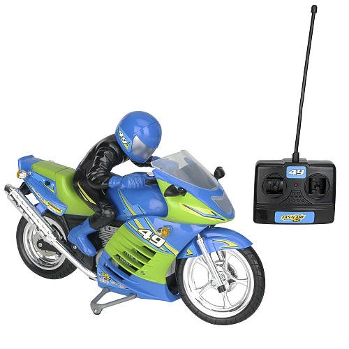 Fast Lane Turbo Rider Radio-Control Motorcycle - 49 MHz