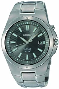 Gents/Mens Seiko Kinetic Titanium Bracelet Watch - SKA397P1