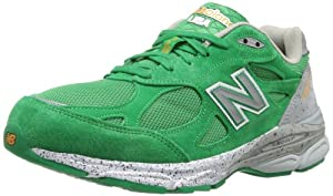New Balance Men's M990BA3 Boston Marathon Running Shoe,Green/Grey,12.5 D US