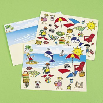 12 Make A Beach Sticker Sheets