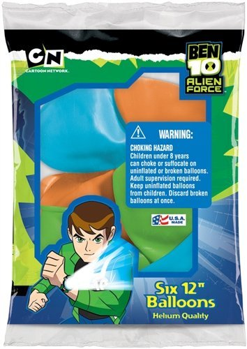 Ben 10 Birthday Party Balloons Supplies Package of 6 - 1