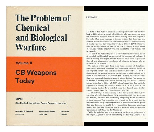 "a review of the possibility of chemical and biological warfare The biological weapons convention - an overview  the problems of chemical and biological warfare  completely"" the possibility of biological agents."