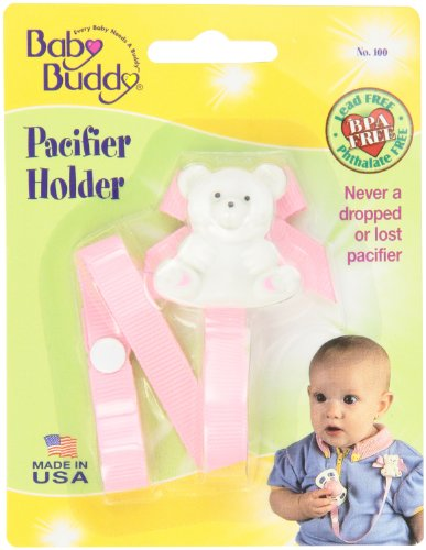 Baby Buddy Pacifier Holder, Lilac/Light Pink, 2-Count front-798862