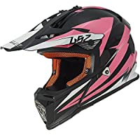 LS2 Helmets Fast Mini Race Youth Off-Road MX Motorcycle Helmet (Pink, Small) from LS2 Helmets