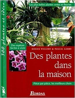 des plantes dans la mauison les plus belles plantes vertes et fleuries 9782040272463 amazon. Black Bedroom Furniture Sets. Home Design Ideas