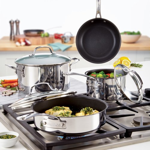 Circulon Genesis Stainless Steel Nonstick 10-Piece Cookware Set