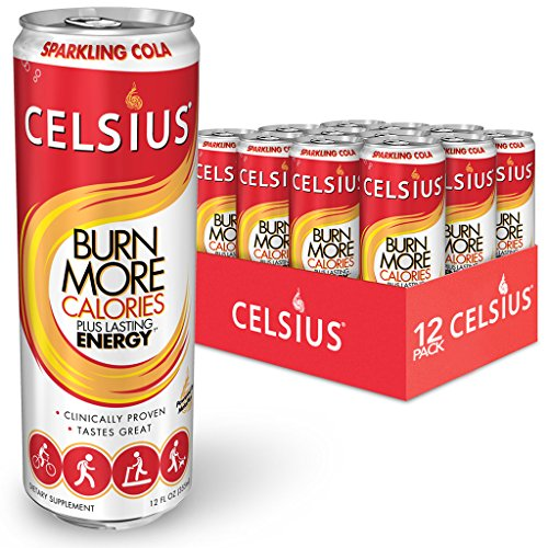 Celsius Sparkling Cola, 12-Ounce Cans (Pack of 12)
