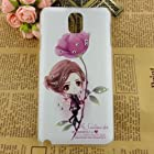 Nancy's Shop Colorful Painting 3d Hard cell phone accessories Case and covers for unlocked tmobile Samsung Galaxy Note 3 III (Little Girl and Flower)