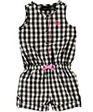 Calvin Klein Baby-Girls Infant and Checker Romper