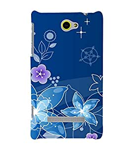 printtech Flower Spiral Design Back Case Cover for HTC Windows Phone 8S