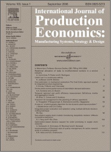 Single machine parallel batch scheduling problem with release dates and three hierarchical criteria to minimize makespan, machine occupation time and stocking ... Journal of Production Economics]