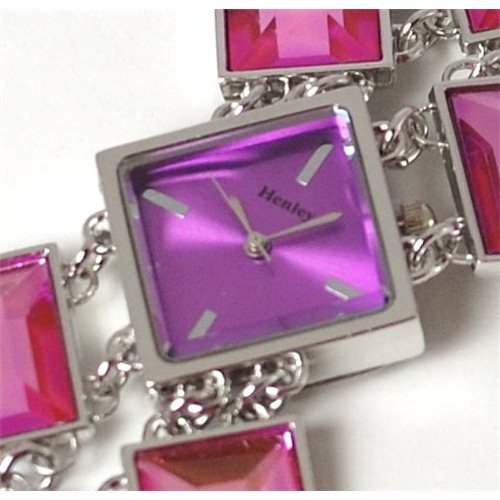 Henley Glamour Pink Cut Glass Bracelet Watch