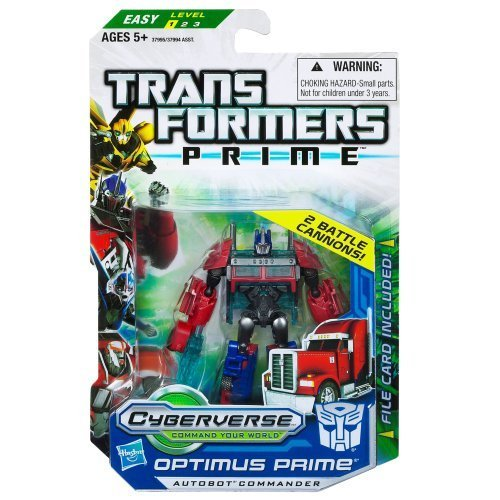 Optimus Prime Transformers Prime Cyberverse Commander Class Action Figure with DVD by Hasbro TOY (English Manual)