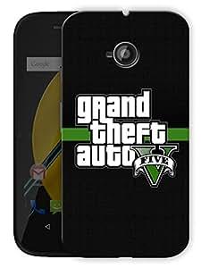 "Game Life Printed Designer Mobile Back Cover For ""Motorola Moto E"" By Humor Gang (3D, Matte Finish, Premium Quality, Protective Snap On Slim Hard Phone Case, Multi Color)"