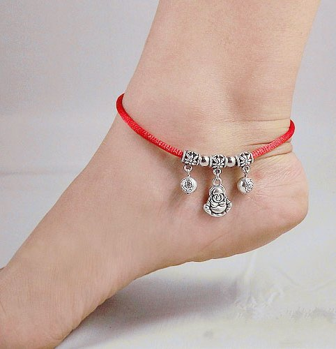 Tibetan Silver Sterling Silver Bangle Anklet Chain Bracelet Jewellery Quality Style NO.3001