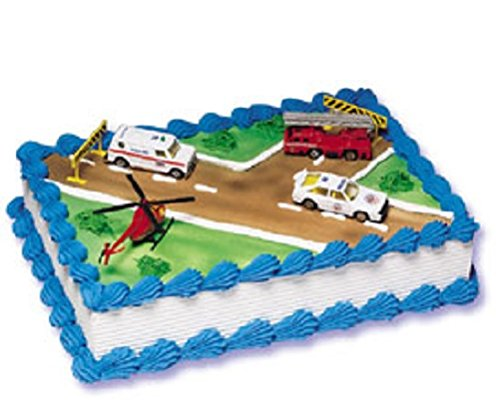 Oasis Supply Company Emergency Vehicles Birthday Cake Kit - 1
