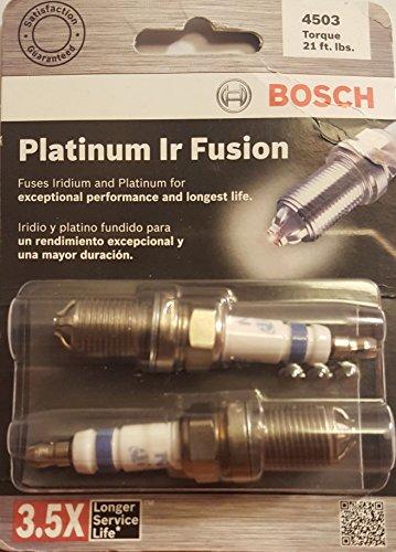 Bosch (4503) FGR7DQI Platinum IR Fusion Spark Plug, (Pack of 2)