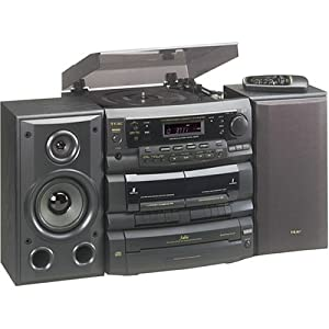 Amazon TEAC DC D6300 3 CD Shelf System With Turntable