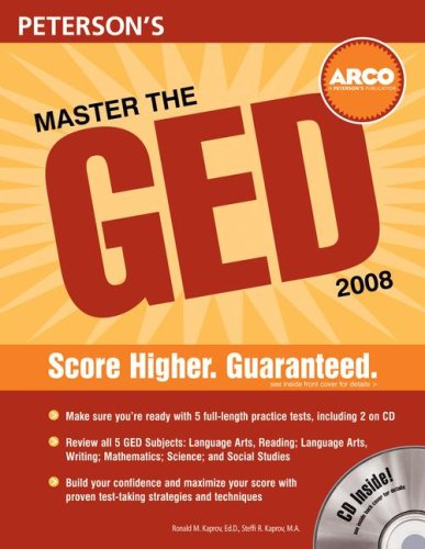 Master the GED 2008 (with CD) (Peterson's Master the GED (W/CD))