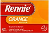 Rennie Orange Flavour Chewable Tablets - Pack of 48 Tablets
