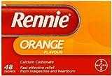 Rennie Orange Flavour Chewable Tablets - Pack of 48 Tablets