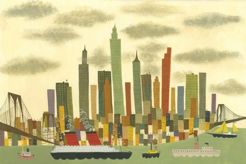 Artifact Puzzles - Matte Stephens Manhattan Wooden Jigsaw Puzzle