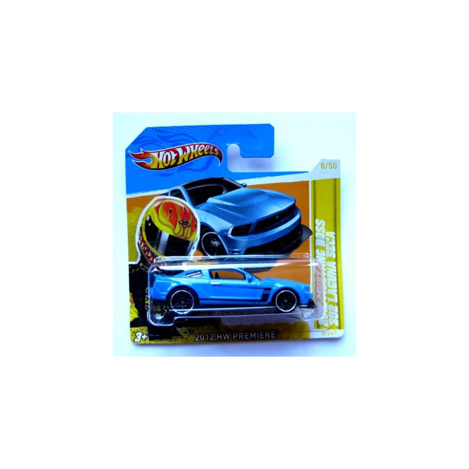 Hot Wheels Ford Mustang Boss 302 Laguna Seca 2012 blau 164