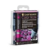 Chameleon Art Products Color Tops, Floral Tones 5-Pen Set (Color: Floral)